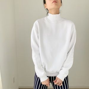 GAP White High neck freestyle pullover sweater